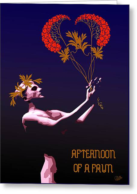 Afternoon Drawings Greeting Cards - Afternoon of a Faun Greeting Card by Joaquin Abella