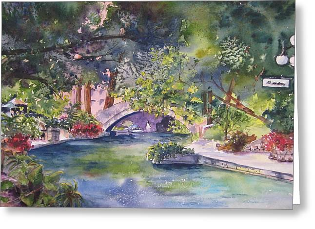 Riverwalk Greeting Cards - Afternoon on the San Antonio Riverwalk Greeting Card by Kate Wyman