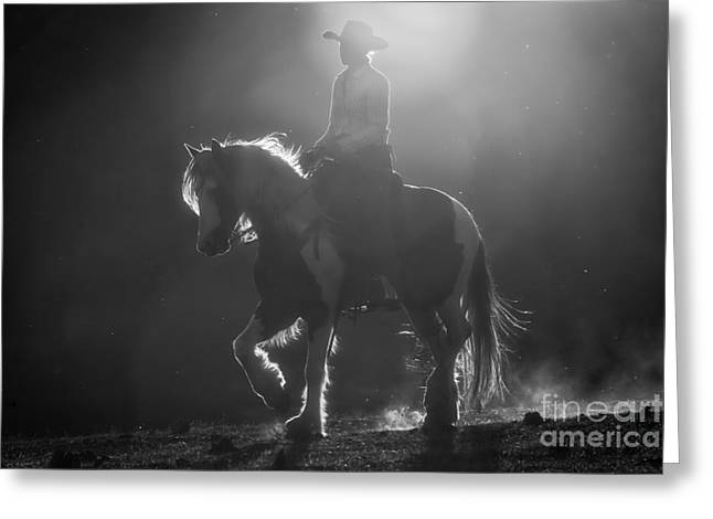 Horseback Photographs Greeting Cards - Afternoon Ride Greeting Card by Ana V  Ramirez
