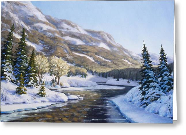 Snow Tree Prints Greeting Cards - Afternoon Shadows Greeting Card by Rick Hansen