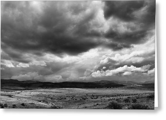 Afternoon Storm Couds Greeting Card by Monte Stevens