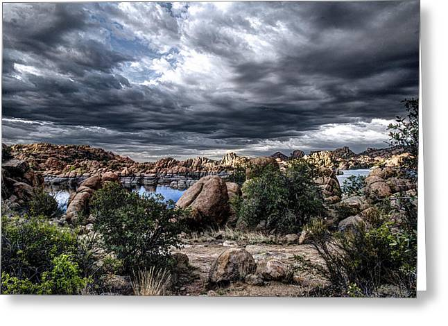 Watson Lake Greeting Cards - Afternoon Storm Greeting Card by Frank Cuva
