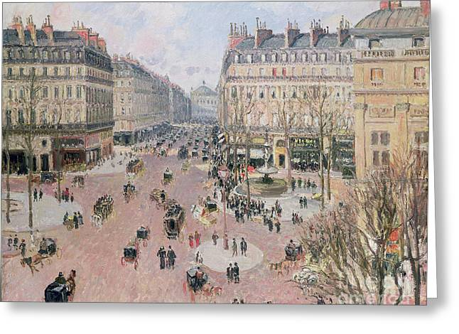 Francais Greeting Cards - Afternoon Sun in Winter Greeting Card by Camille Pissarro
