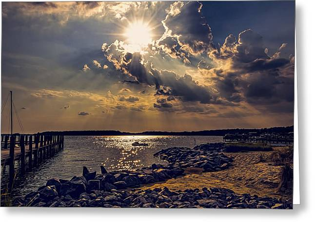 Ocean Panorama Greeting Cards - Afternoon Sun Greeting Card by Maria Coulson
