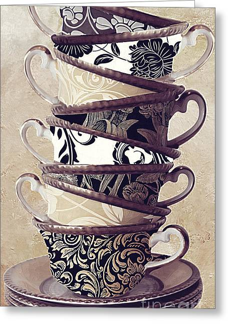 Stacks Greeting Cards - Afternoon Tea Greeting Card by Mindy Sommers