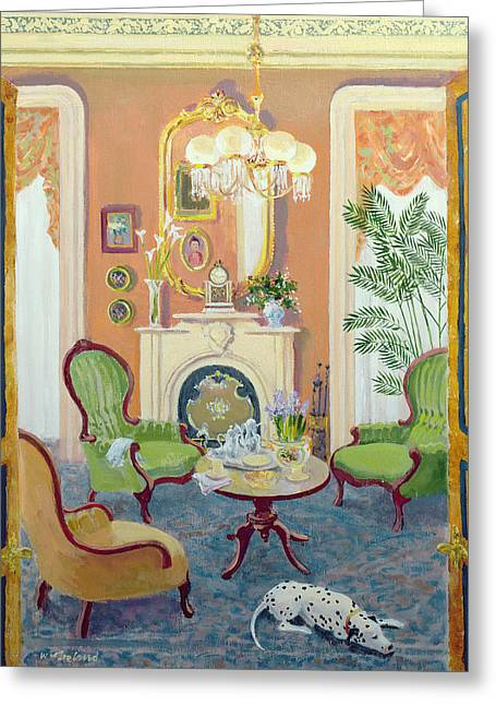 Interior Still Life Paintings Greeting Cards - Afternoon Tea Greeting Card by William Ireland