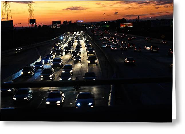 Southern Class Greeting Cards - Afternoon Traffic Greeting Card by Hsin Liu