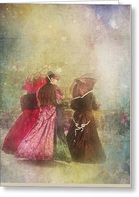 Original Art Photographs Greeting Cards - Afternoons Chat Greeting Card by Jone Vasaitis