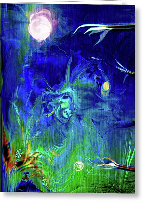 Abstract Expression Greeting Cards - Afterwish Greeting Card by Linda Sannuti