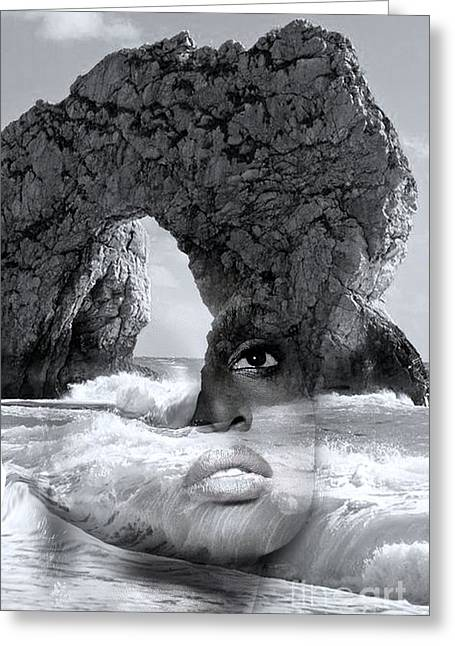 Caves Greeting Cards - Against The Sea Greeting Card by Tania Amrein