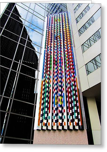 Todd Sherlock Greeting Cards - Agam Sculpture Chicago Greeting Card by Todd Sherlock