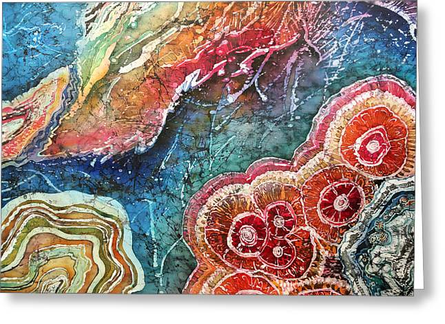 Orange Tapestries - Textiles Greeting Cards - Agate Inspiration - 22A Greeting Card by Sue Duda