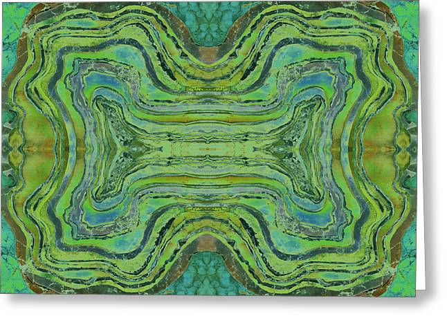 Lime Tapestries - Textiles Greeting Cards - Agate Inspiration - 24 B  Greeting Card by Sue Duda