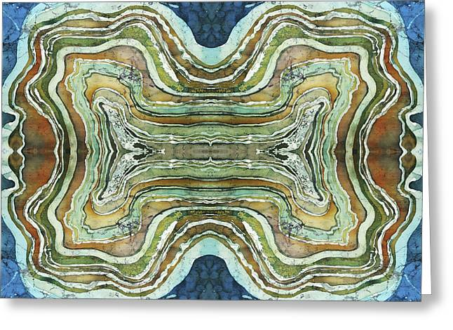 Unique Tapestries - Textiles Greeting Cards - Agate Inspiration - 24A Greeting Card by Sue Duda