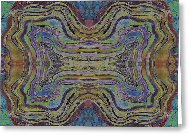 Stones Tapestries - Textiles Greeting Cards - Agate Inspiration - 24C  Greeting Card by Sue Duda