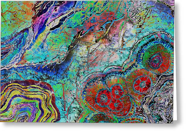 Stones Tapestries - Textiles Greeting Cards - Agate Inspiration - 22B Greeting Card by Sue Duda