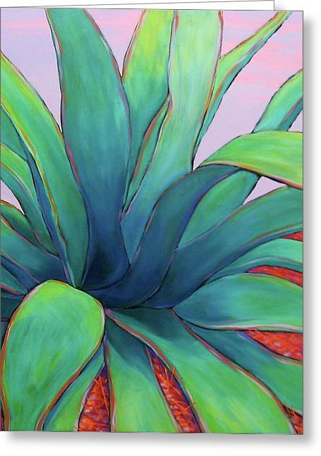 Agave Dusk Greeting Card by Nancy Matus