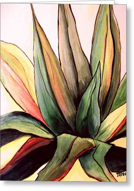 Tropical Photographs Paintings Greeting Cards - Agave Yucatan V Greeting Card by Jacquie King