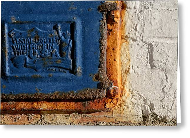Metallic Sheets Greeting Cards - Aged grill Greeting Card by Al Hurley