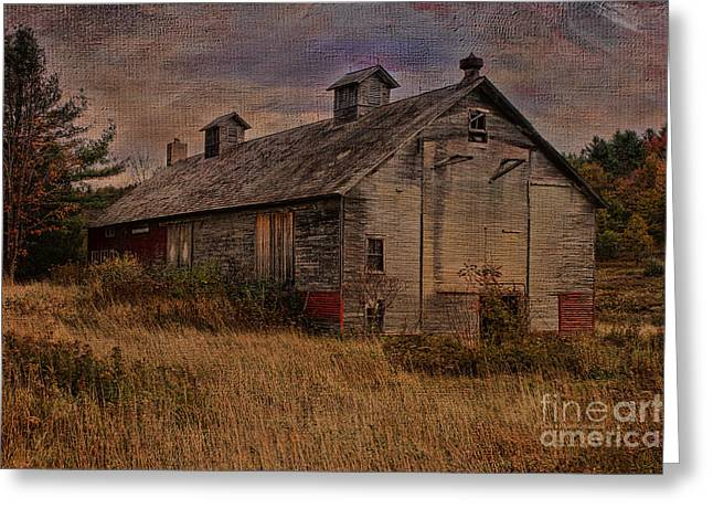 Cupola Greeting Cards - Aged Rural Vermont Beauty Greeting Card by Deborah Benoit
