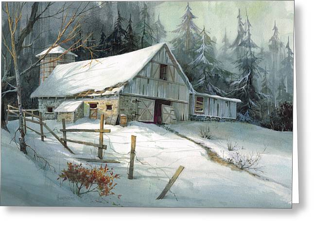 Winter Landscape Paintings Greeting Cards - Ageless Beauty Greeting Card by Michael Humphries