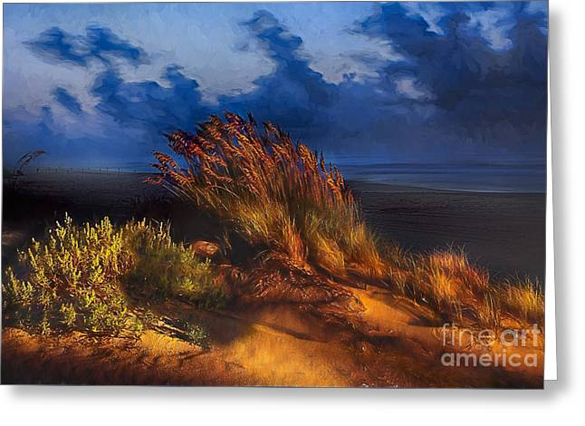 Sand Dunes Paintings Greeting Cards - Ageless Solitude Greeting Card by Dan Carmichael