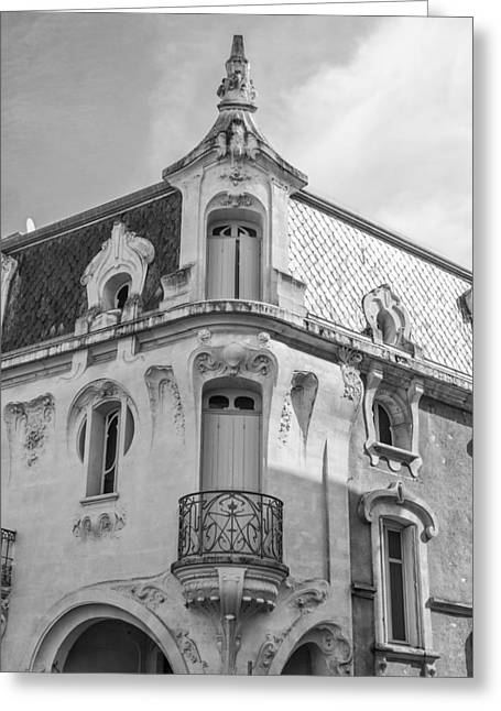 South West France Greeting Cards - Agen Art Nouveau Building Greeting Card by Nomad Art And  Design