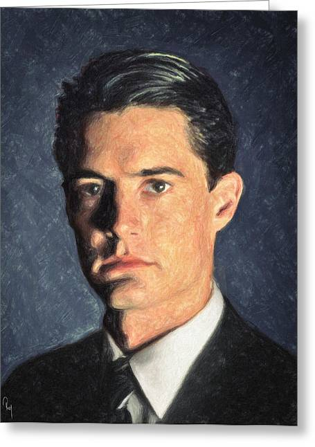 Dale Cooper Greeting Cards - Agent Cooper Greeting Card by Taylan Soyturk
