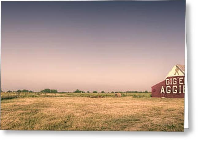 Sec Greeting Cards - Aggie Barn Panorama Greeting Card by Joan Carroll
