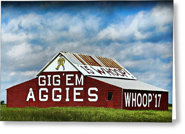 Texas A Greeting Cards - Aggie Barn Greeting Card by Stephen Stookey