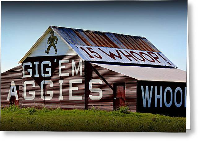 College Spirit Greeting Cards - Aggie Barn - Whoop  Greeting Card by Stephen Stookey
