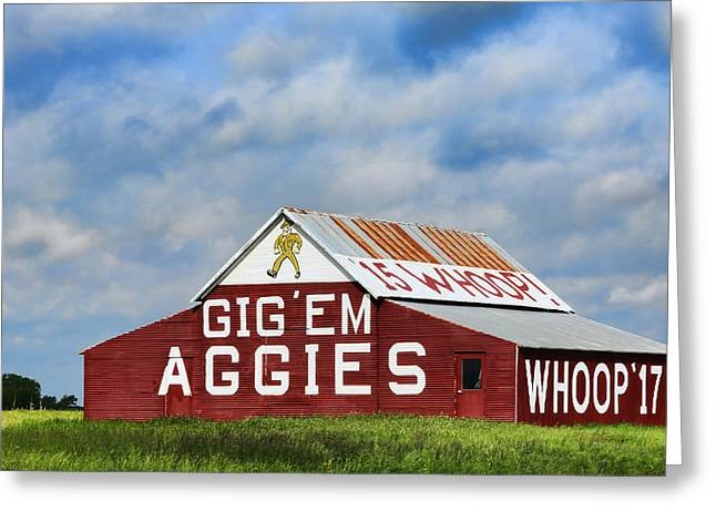 March Greeting Cards - Aggie Nation Barn Greeting Card by Stephen Stookey