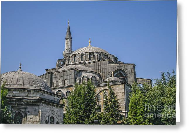 Byzantine Greeting Cards - Agia Sofia in Istanbul Greeting Card by Patricia Hofmeester