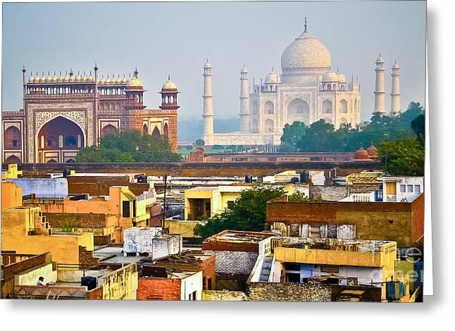 Agra Rooftop Greeting Card by Derek Selander