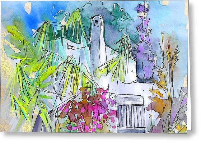 Travel Sketch Drawings Greeting Cards - Agua Amarga 02 Greeting Card by Miki De Goodaboom
