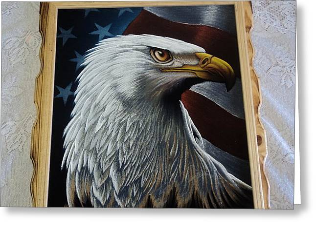 Flag Of Usa Pastels Greeting Cards - Aguila Greeting Card by Kasper Castillo