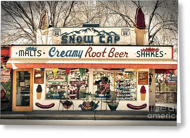 Hot Dog Stand Greeting Cards - Ah - Such Sweet Memories Greeting Card by Sandra Bronstein