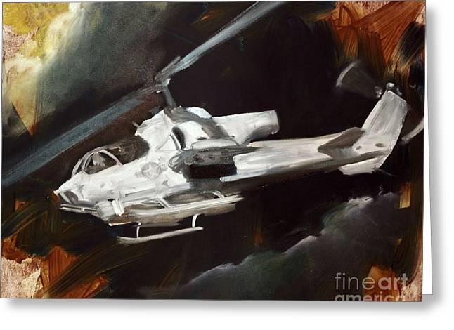 Ah-1w Cobra Greeting Card by Stephen Roberson