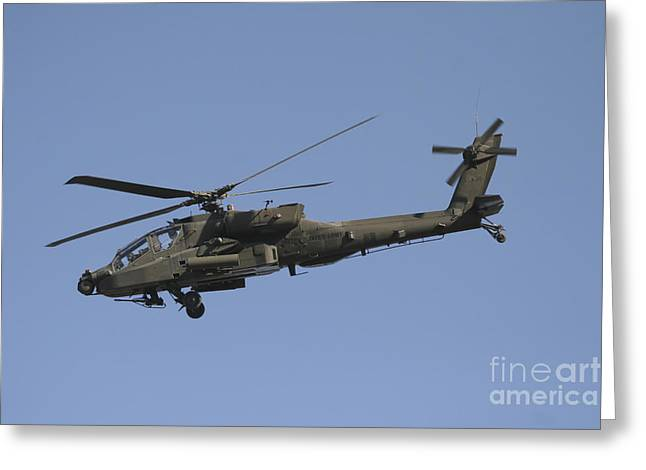 Ah-64 Apache In Flight Over The Baghdad Greeting Card by Terry Moore