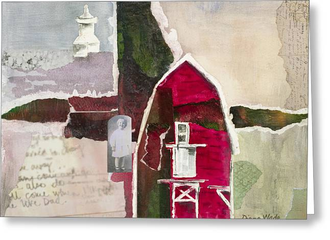 Genealogy Mixed Media Greeting Cards - A.H. Meyers Barn Greeting Card by Diana Wade