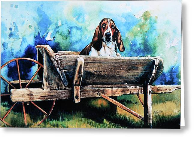 Dog Portraits Greeting Cards - Ah Pooey Greeting Card by Hanne Lore Koehler