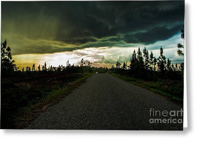Transportation Tapestries - Textiles Greeting Cards - Ahead of the storm Greeting Card by James Hennis