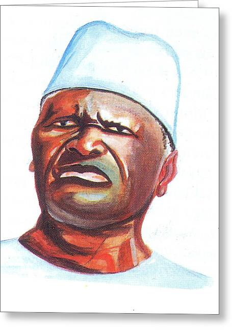 Emmanuel Baliyanga Greeting Cards - Ahmed Sekou Toure Greeting Card by Emmanuel Baliyanga