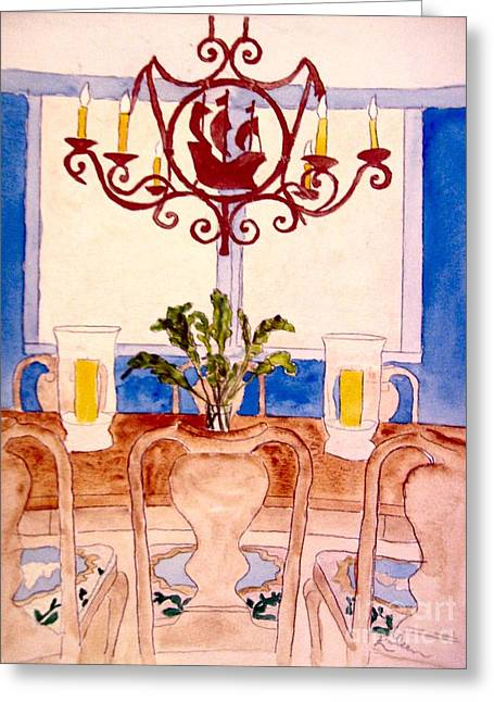 """""""indoor"""" Still Life Paintings Greeting Cards - Ahoy Mates Greeting Card by Eileen Tascioglu"""