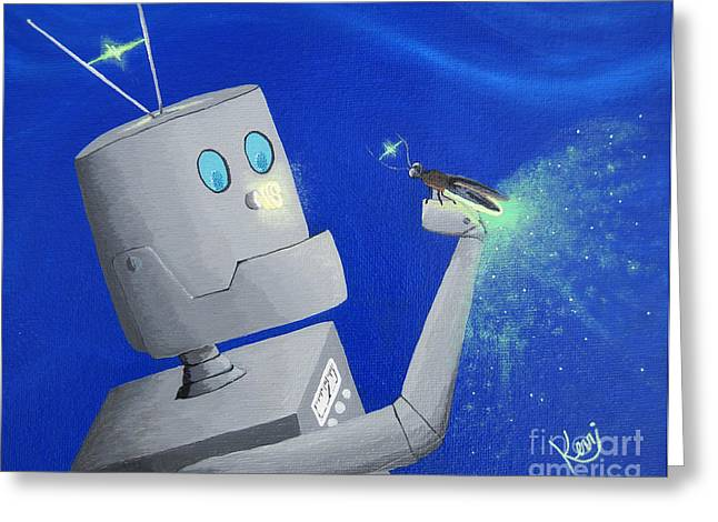 A.i. And The Firefly Greeting Card by Kerri Ertman