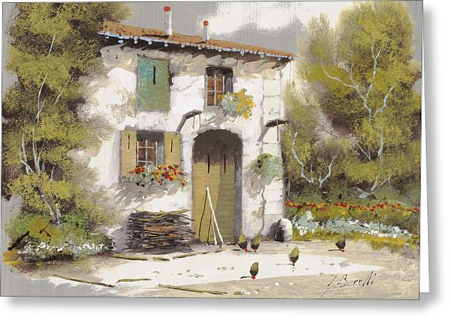 Old Houses Greeting Cards - Aia Greeting Card by Guido Borelli