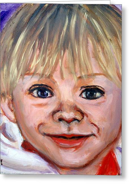 Portrair Greeting Cards - Aidan Greeting Card by Lia  Marsman