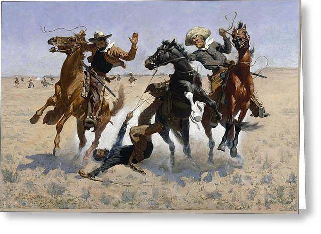 Aiding A Comrade  Greeting Card by Frederic Remington