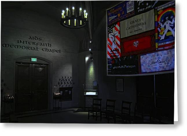 Queer Greeting Cards - Aids Interfaith Memorial Chapel - San Francisco Greeting Card by Daniel Hagerman