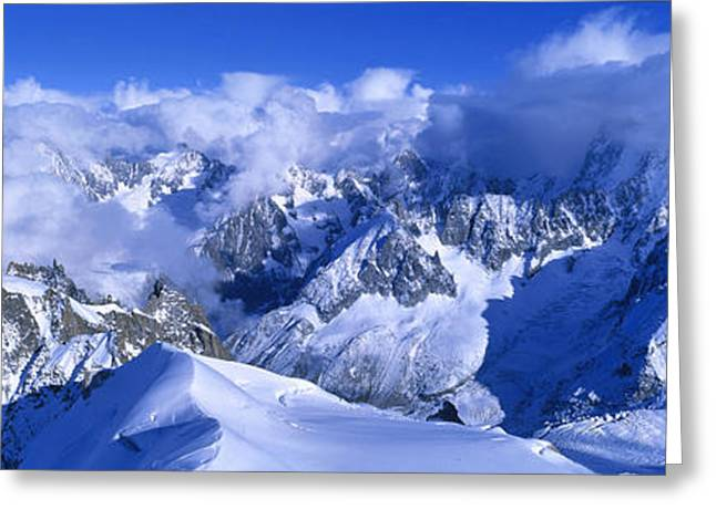 Mountain Greeting Cards - Aiguille Du Plan Alps France Greeting Card by Panoramic Images